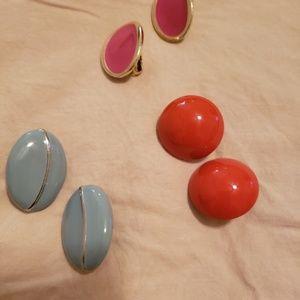 Jewelry - Vintage clip earrings lot